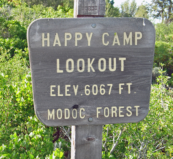 Happy Camp Mountain Lookout California